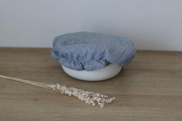 Recouvre plat en imprimé rayure bleu