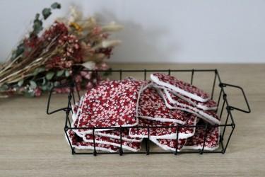 Lingettes lavables en mitsi rouge