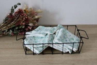 Lingettes lavables en mitsi mint