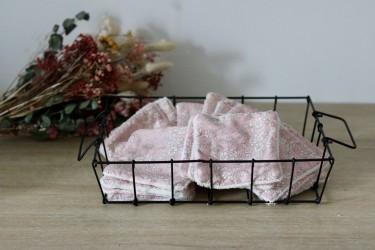 Lingettes lavables en capel poudre