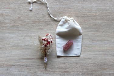 Pointe de quartz fraise
